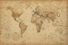Poster World Map Antique Style Map 91.5x61cm