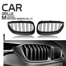 2X Gloss Black For BMW E92 E93 06-09 E90 M3 Front Kidney Grille Grill Cover Trim
