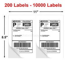 50 10000 Shipping Labels 85x55 Half Sheets Blank Self Adhesive 2 Per Sheet