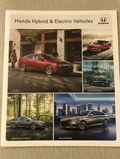 2019 HONDA HYBRID & ELECTRIC VEHICLES 20-page Original Sales Brochure