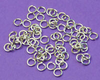 .925 Sterling Silver Small 5 mm Triangular Pendant Wire Bail Jump Rings SF128