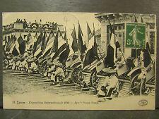 cpa 69 lyon exposition internationale 1914 pouss pouss