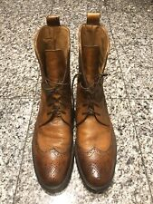 Sutor Mantellassi Brown Leather Lace Up Brogue Men's Boots