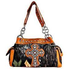 Mossy Oak Camo & Orange Cross Purse, Camouflage Rhinestone Handbag
