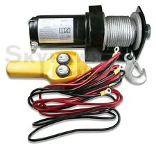 New 2000 lbs ELECTRIC TRAILER RECOVERY WINCH – ATV/BOAT/TRUCK/CAR 12V Input 1 HP
