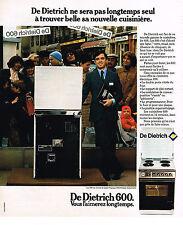 PUBLICITE  1976   DE DIETRICH   cuisinière