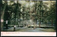YORK PA Brookside Park Rustic Wooden Foot Bridge Vintage Postcard Early Old PC