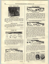 1956 PAPER AD Daisy Air Rifle BB Gun Red Ryder Scout Carbine