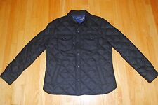 Polo Ralph Lauren Quilted Officers Wool Down Jacket Shirt Hewitt Black S $395