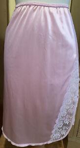 Vintage J.C. Penney Fantasia PinkIsh  Half Slip W/ Lace Hem Size Small 24 Inch
