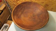 Antique Turned Wood Bowl 14""