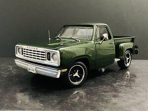 1977 Dodge Warlock 150 Stepside Pickup Truck 1:18 KODEBLAKE Custom Autoworld