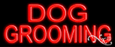 "BRAND NEW ""DOG GROOMING"" 24x10 REAL NEON SIGN w/CUSTOM OPTIONS 12051"