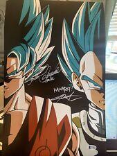 Chris Sabat/Sean Schemmel Signed 11x17 Dragon Ball Z COA Autograph Beckett Dl4