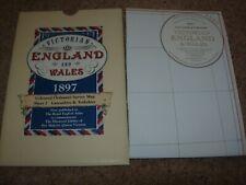 REPRINT 1897 MAP ORDNANCE SURVEY MAP - YORKSHIRE - LANCASHIRE - WEST MORELAND