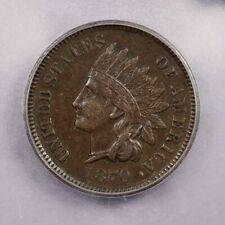 1870-P 1870 Indian Head Cent 1C ICG EF45 S-7 Pick-Axe