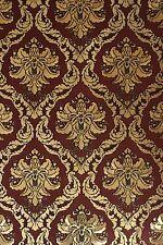 Vinyl Tapete Barock Retro # rot/gold/schwarz # Fujia Decoration # 22911