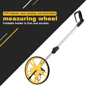 Portable Collapsible Digital Measuring Wheel with Kickstand Large LCD Display Walking Wheel Tape Measure Road Land Perfect for Builder Worker Farmer Distance Measuring Wheel