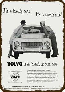 1958 VOLVO PV444 Family & Sports Car Vintage-Look DECORATIVE REPLICA METAL SIGN