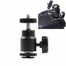 "FOTYRIG Mini Ball Head Hot Shoe Adapter Mount 360° 1/4"" Screw DSLR Camera"