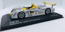 Minichamps 1/43 Audi R8 24h Le Mans 2001 #2 400011202