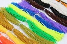 16bundles 13cm Silicone Skirts Legs Plain Color Spinner Bait Squid Rubber Thread
