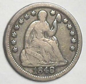 Original 1848 Half Dime VG-Fine