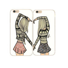 Best Friends Forever BFF Bestie Style Rigid Case Cover Skin For All Phone Models