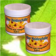 (19,50€/L) Alter Heideschäfer Melkfett mit Ringelblume 2x250ml #1