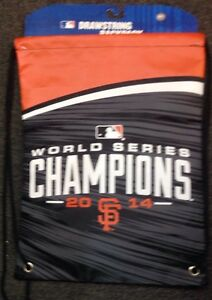 San Francisco GIANTS World Series CHAMPIONS 2014 TEAM Drawstring Backpack