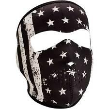 Zan Headgear Black & White Vintage Flag Neoprene Full Face Riding Mask
