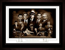WORLDS MOST INFAMOUS MOBSTERS -  MONTAGE PRINT A3