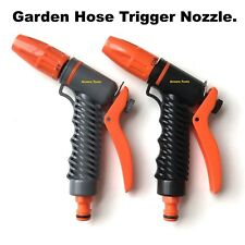 HOSE TRIGGER NOZZLE- ADJUSTABLE SPRAY PATTERN - SNAP ON CONNECTION - NEW