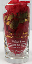 INDIANAPOLIS MOTOR SPEEDWAY 500 MILE RACE WINNER GLASS WILBER SHAW 1937 1939 194
