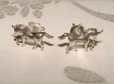 925 Sterling Silver Unicorn Pegasus Ear studs Earrings Solid Flying Horse Boxed