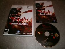 JEU NINTENDO WII Pal VF: TENCHU SHADOW ASSASSINS - Complet TBE
