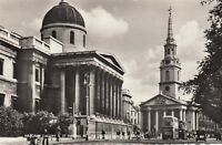 Postcard - London - National Gallery & St Martins In The Fields Church