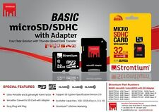 Strontium 2GB 4GB 8GB 16GB 32GB MicroSDHC Memory Card Class 6 with adaptor