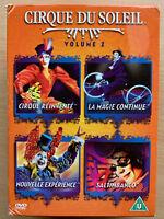 Cirque Du Soleil Vol.2 Reinvente Saltimbanco Nouvelle Experience Box Set DVD