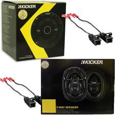 """KICKER 6x9"""" 360W 3Way + KICKER 6.5"""" 2-Way 240W Speakers WITH (2) Metra 72-4568"""