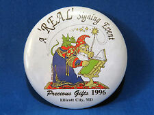 'Real' Signing Event Pocket Dragon Event Pin 1996 Ellicott City, MD Mint
