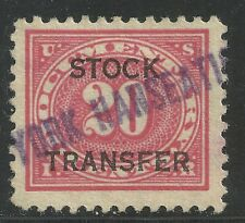 U.S. Revenue Stock Transfer stamp scott rd6 - 20 cents issue of 1918-22