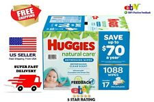 Huggies Natural Care Baby Wipe Refill, Refreshing Clean (1,088 ct.)