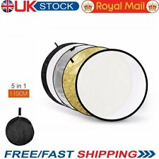 """UK Stock 5 in 1 110cm 43"""" Light Diffuser Round Reflector Disc + Carrying Bag"""