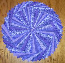 "60 Purple Calico Fabric 5"" Quilting Squares 100% Cotton Charm pack bundle"