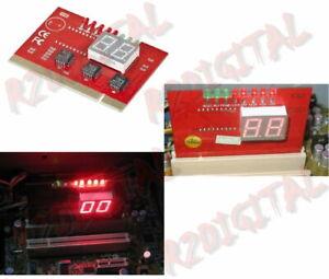 SCHEDA PCI TESTER TECHMADE SCHEDA MADRE DIAGNOSTICA ANALIZZA COMPUTER PC MB TEST