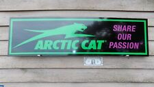 NEW! ARCTIC CAT SNOWMOBILE DEALER/SERVICE SIGN/AD W/CAT LOGO AND TAGLINE 1'X46""