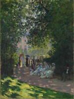 Claude Monet The Parc Monceau Poster Reproduction Paintings Giclee Canvas Print