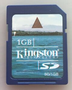Kingston 1GB SD Secure Digital Memory Card