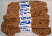 Vtg Herrschner Tapestry Wool Yarn Lot 12 Moth Proof Color 310 Brown Same Dye Lot